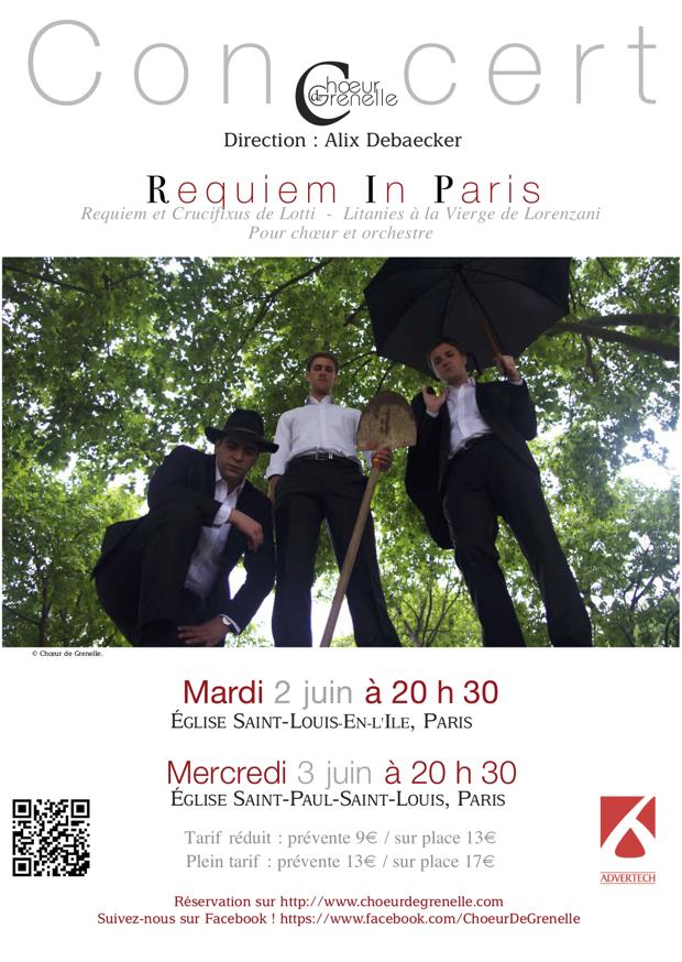 « Requiem In Paris » – Concert les 2 et 3 juin 2015