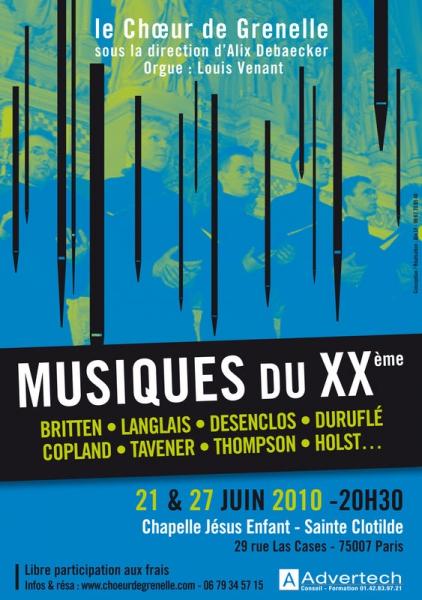 Concert MUSIQUES XXème