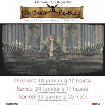 « The Bach Pearls » – Concert les 18, 24 et 31 janvier