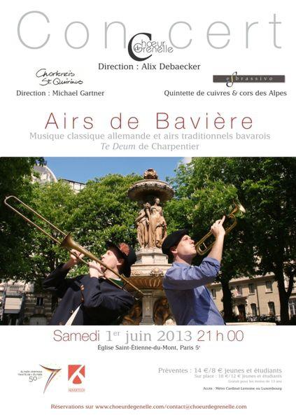 « Airs de Bavière » – Concert le samedi 1er juin, 21 h 00, église Saint-Étienne-du-Mont