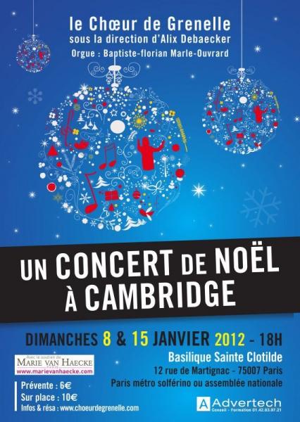 """Concert """" Un Noël à Cambridge """""""