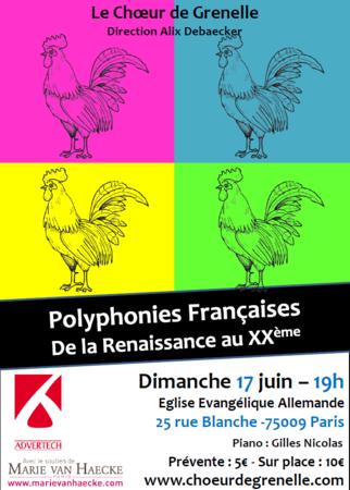 Polyphonie françaises de la Renaissance au XX<sup>e</sup> – 17 juin 2012