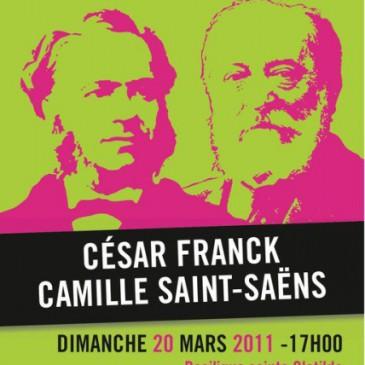 """Concert """"César Franck et Camille Saint-Saëns"""" le 20 mars 2011"""
