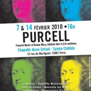 Concert PURCELL – 7 & 14 février 2010